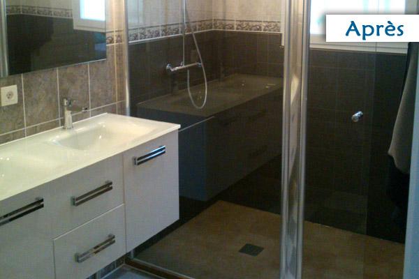 mettre douche a la place baignoire. Black Bedroom Furniture Sets. Home Design Ideas